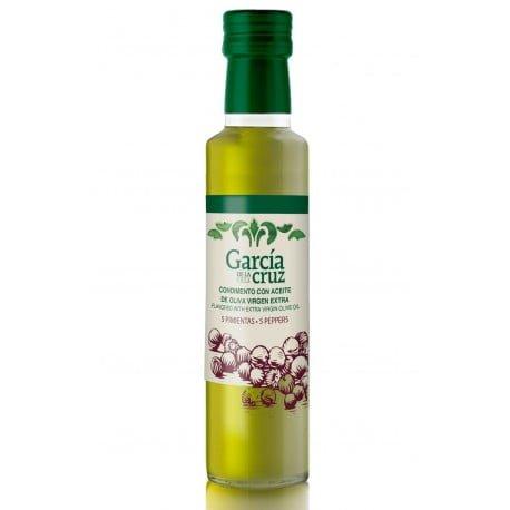aceite de oliva aromatizado con 5 pimientas