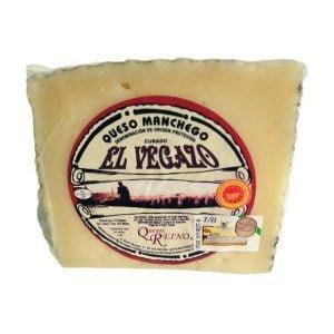 queso manchego curado el vegazo cuña