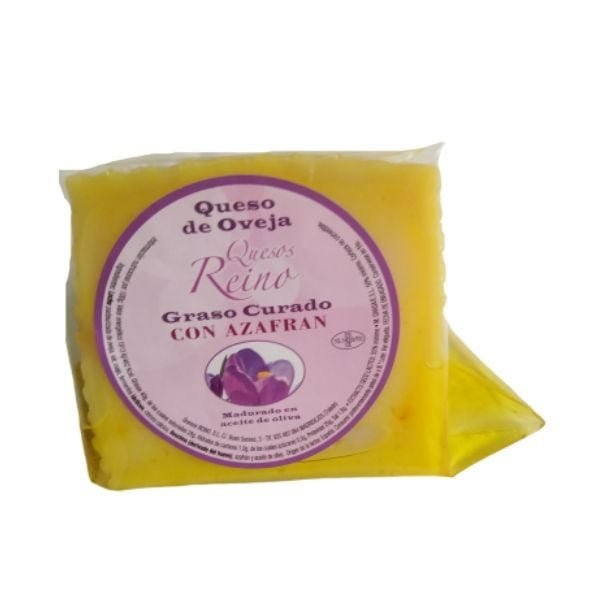 queso de oveja con azafrán y aove cuña