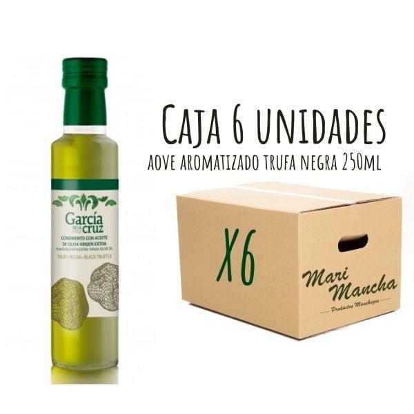 caja 6 unidades aceite de oliva aromatizado con trufa negra
