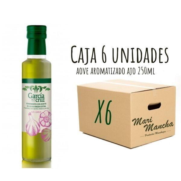 caja 6 unidades aceite de oliva aromatizado con ajo