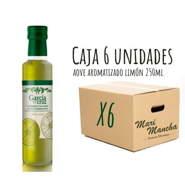 caja 6 unidades aceite de oliva aromatizado con limón