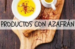 productos con azafrán